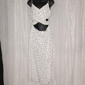 Nordstrom | Lush | Polka Dot Midi Dress size Large
